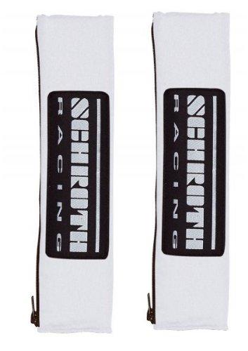 Schroth 09219 - Cuscini avvolgicintura con Logo Racing, 2', Colore: Argento