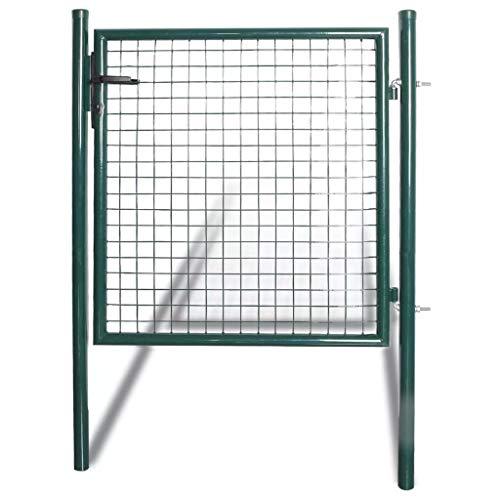 Daonanba Porte de clôture stable à porte unique Acier robuste