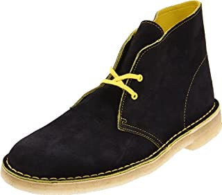 Clarks mens Desert Chukka Boot, Black Suede/Yellow, 9 US (B0058ZNLHQ) | Amazon price tracker / tracking, Amazon price history charts, Amazon price watches, Amazon price drop alerts