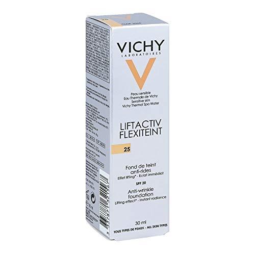 VICHY Liftactiv Flexiteint, Fondotinta Fluido Anti-rughe Donna 25 Nude, 30 ml