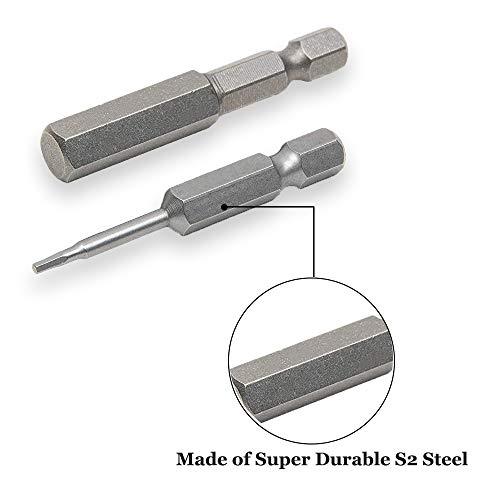 Saiper 8pcs Magnetic 1/4 Inch Hex Shank Screwdriver Inner Hexagon Bits Set H1.5-H8 Hex Head Allen Bit Set, 50mm/2 Inch Length