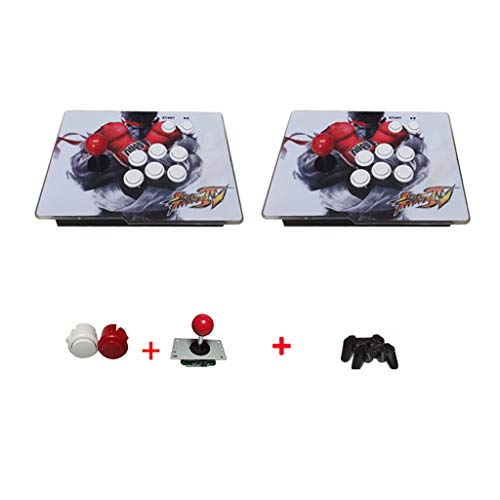 Interessant 3D [Extreme Edition WIFI Versie-Split Style] Moonlight Box Game Machine Home Arcade Double Fighter Rocker Retro Style Stabiel (Color : Picture color)