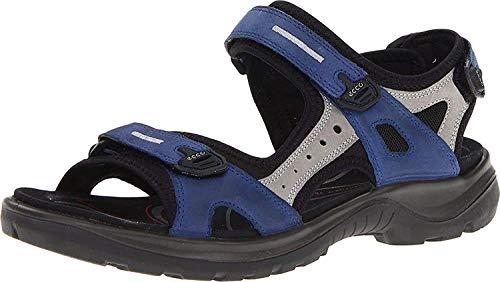 ECCO Damen OFFROAD Flat Sandal, Blau (MEDIEVAL/WILD DOVE), 37 EU