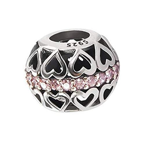 Women Heart Charm To My Heart Charms Beads/Key And Lock For Necklace Love Soul Mate