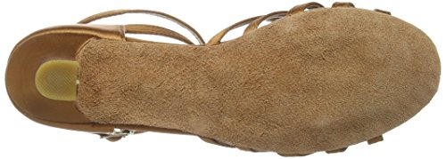 Amurleopard Damen Latein Schuhe 5cm Absatz Dunkelbraun 39(Herstellergröße:40) - 4