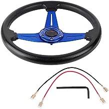 Steering Wheel, Akozon Blue 14in 350mm Car Sport Racing Drift Steering Wheel