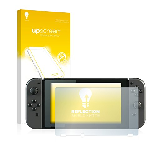 upscreen Entspiegelungs-Schutzfolie kompatibel mit Nintendo Switch – Anti-Reflex Displayschutz-Folie Matt