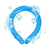 Jelly farm Neck Cooling Tube, Neck Cooler for Summer Outdoor Sports, Reusable Neck Cooling Wrap, Neck Wearable Gel Ice Pack (Round),Blue