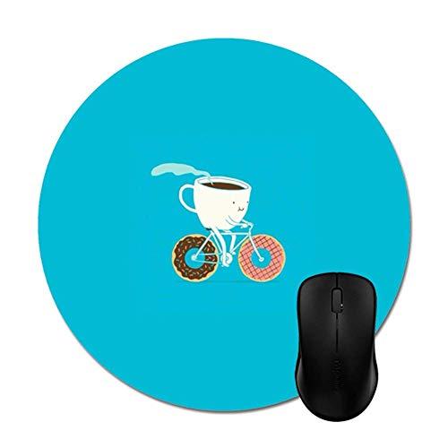 Cartoon Kaffee und Donuts Mauspads Rutschfeste Gummibasis Stilvolles Bürozubehör