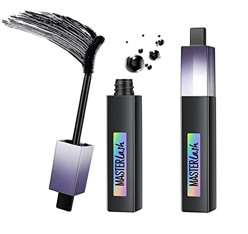 1/2/3/4pcs Rotating Brush Head Waterproof Mascara Thick Voluminous Natural Eye Makeup Lash 4d Black Volume and Length Fiber Eyelash Mascara Lengthening Amplify Primer Brush Volumizing (2pcs)