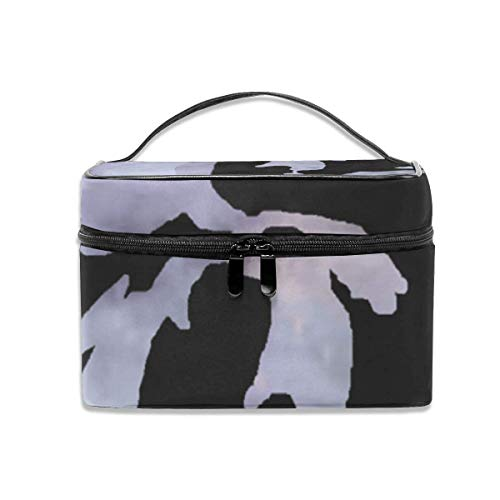 Michigan The Great Lakes State Travel Makeup Train Case Makeup Cosmetic Case Organizer Portable Storage Bag