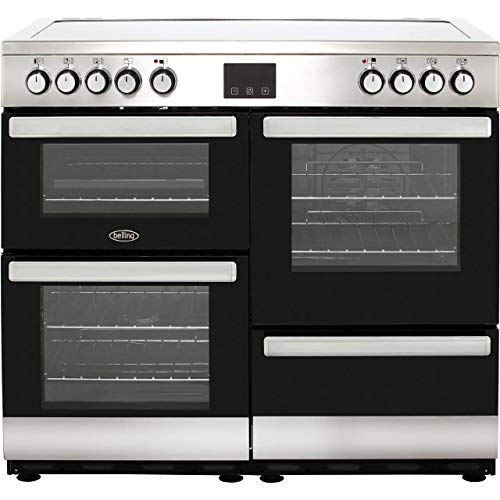 Belling Cookcentre 100E 100cm Electric Ceramic Range Cooker - Stainless Steel