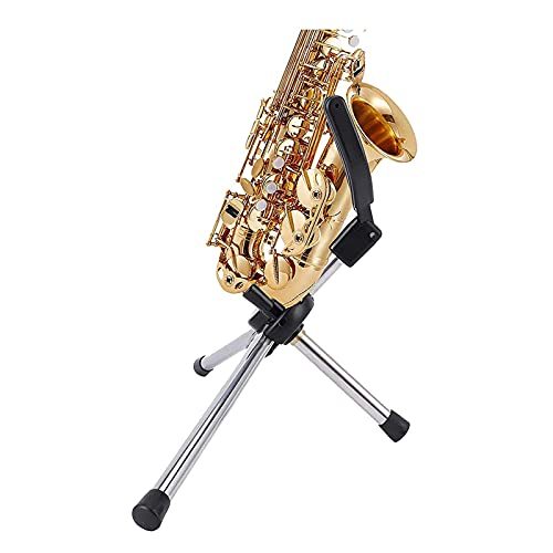 Foldable Saxophone Stand, Portable Stainless Steel Saxophone Stand, Flute and Violin Stand, Musical Instrument Rack (Bracket Only) (Size : Tweeter small elbow)