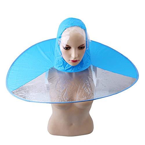 Yukie 1 st creatieve regenjas paraplu kap hoed inklapbare outdoor vissen golf kinderen volwassen regenjas cover transparante paraplu,M