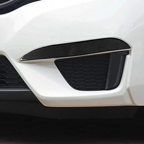 Interior de fibra de carbono del coche Etiquetas engomadas de la pestaña de la luz de la niebla del coche, accesorios de modificación de la ceja del ojo del ojo del coche, adecuados para HONDA FIT/J
