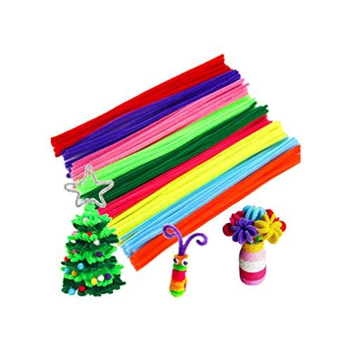 NUOBESTY 200 Stücke Pfeifenreiniger Chenille Stammt Handwerk Chenille Sticks für DIY Kunst Blume Pflanze Handwerk Party Dekorationen Ornament
