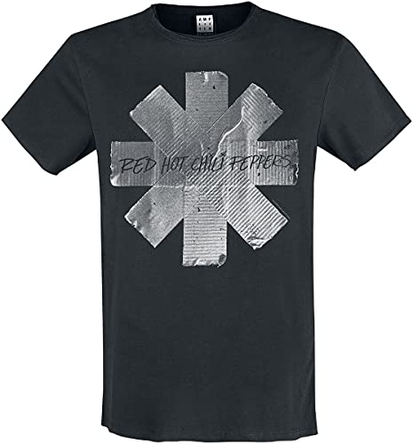 Amplified Shirt Red Hot Chili Peppers Duct Tape Black, XL, Schwarz