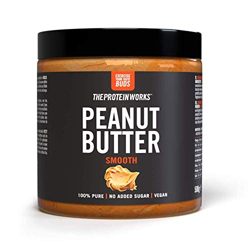 THE PROTEIN WORKS Peanut Butter | 100% Natural Roasted Peanut Butter | No Added Sugar | Smooth | 500g