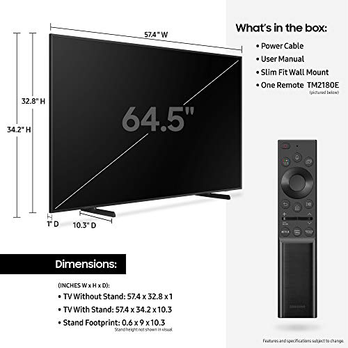 Samsung 65-inch 4K QLED Frame TV with Alexa Built-in (QN65LS03AAFXZA, 2021 Model)