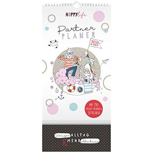 H:)PPY life Partnerkalender 2021, Kalender für zwei, Planer für 2 - 2021, Wandkalender für Paare