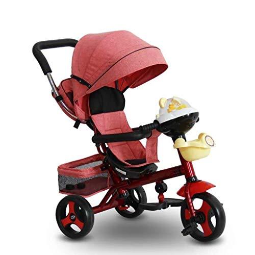 Kid Faltbare Kinderwagen Trike Anfänger Red Sun Shade 3 In 1 Dreiräder, 1-6 Jahre alt Jungen Mädchen Blue...