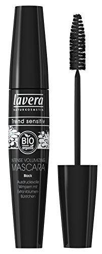 lavera Intense Volumizing Mascara Wimperntusche ∙ Farbe black ∙ Volumen, Schwung & Definition ∙ Natural & innovative Make up ✔ Bio Pflanzenwirkstoffe ✔ Naturkosmetik ✔ Augen Kosmetik 1er Pack 1x 13 ml