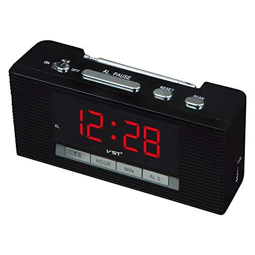 LIUJJ LED-Uhr mit FM-Radiowecker versorgen Radiowecker LED-Radiowecker rot