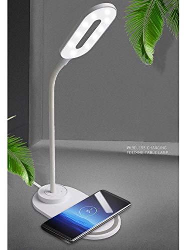 HXCD LED-Lampe mit USB-Ladeanschluss, einstellbare 3-Farben-Leuchten , Klappbare Nachttischlampe Smart Eye Protection...