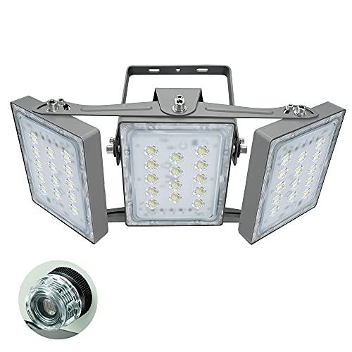 Faretto LED per Esterni per Garage, con Dal Tramonto All'alba Sensore Interruttore, 8100LM, Faro di Sicurezza 5000K (Bianco Luce del Giorno), Proiettore Regolabile 90W per Granaio, Patio, Cortile