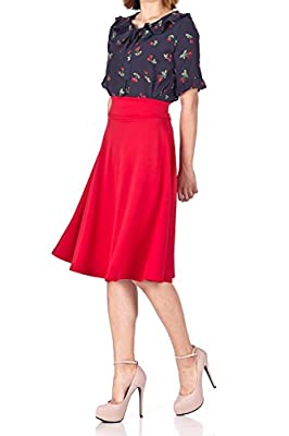 Dani's Choice Stunning Wide High Waist A-line Full Flared Swing Office Dance Party Casual Circle Skater Midi Skirt
