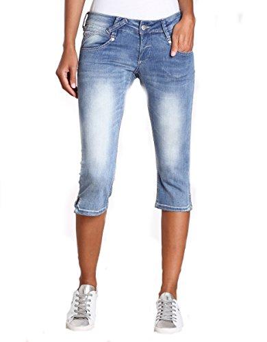 Gang Damen NENA 3/4-blue Stretch Hose, Blau (Skyway Blue Wash 7412), 34 (Herstellergröße: 25)