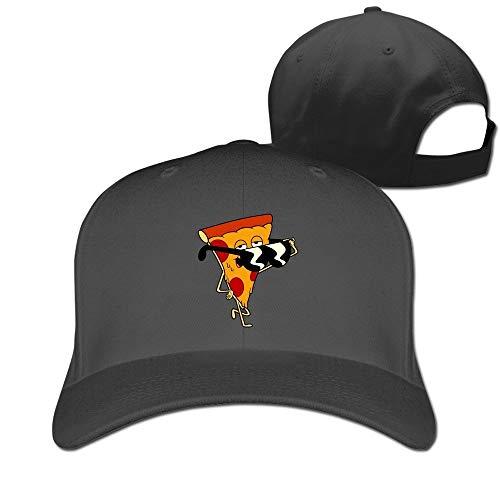 YVES Unisex Uncle Grandpa Pizza Steve Snap cap Black Black