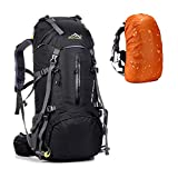 Hiking Backpack 50L Internal Frame Light Weight Travel Daypack Waterproof with Rain Cover