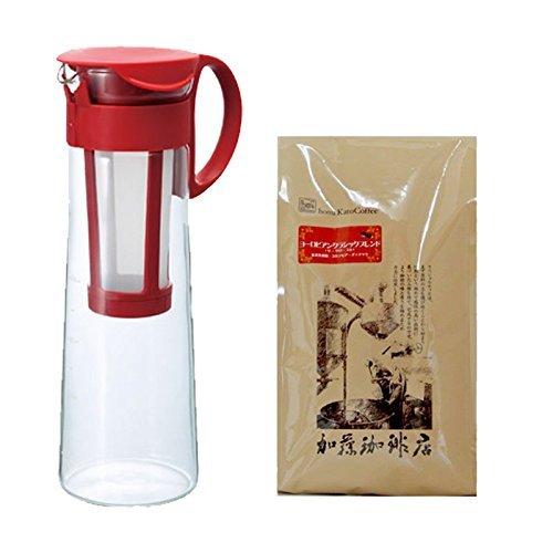 美味しい水出しコーヒーが作れる珈琲福袋[ヨーロ×2・メジャースプーン] <挽き具合:豆のまま レッド>