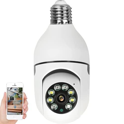 WANYANG Câmera IP WiFi, 1080P Câmera de Segurança E27 Lâmpada com Visão Noturna, Lâmpada Espiã Camera para Celular Android / IOS Controle Remoto APP