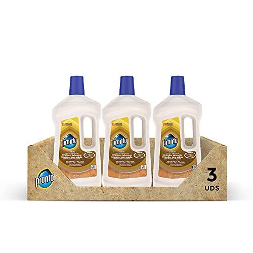 Pronto Limpiador Jabonoso - Producto de limpieza para suelos y muebles de madera, Pack de 3 x 750 ml