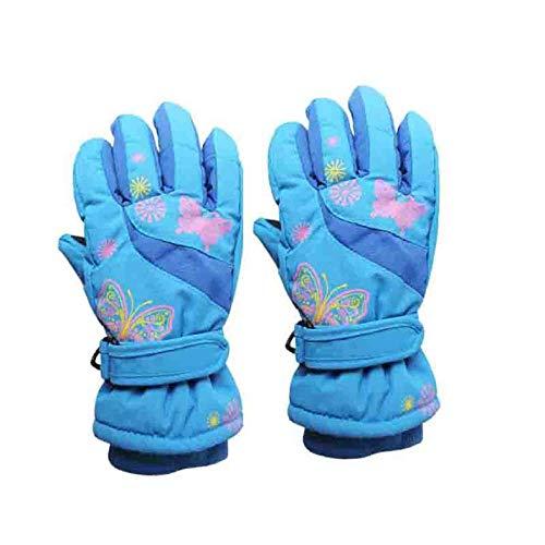 Cloverclover À la mode papillon Deisgn voiture enfants gants de ski patinage garçon fille dessin animé, Deep Blue