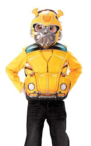 Rubie's Officieel Transformers Hummel-kostuum, omzetting, deluxe karakterkostuum, bovendeel en masker, leeftijd 4-6 jaar