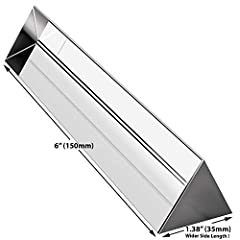Use this equilateral prism to split a beam of light into its spectral components (the colors of the rainbow). Side Length: 1.38 inch / 35mm, Wider than most other prisms on the market. Makes them easier to hold and use. Show your kids a rainbow, or u...