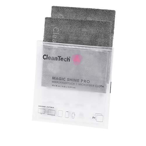 2er Pack I CleanTech Magic Shine PRO Mikrofasertücher I Microfasertuch zum Bildschirm Schutz vor Schmutz auf der Laptop Bildschirm/Display. Microfaser Reinigungstücher zur Notebook Reinigung