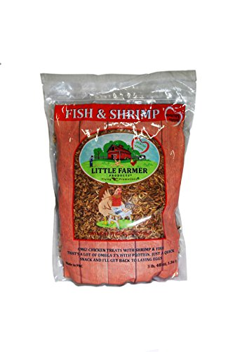 LITTLE FARMER PRODUCTS Fish & Shrimp   Dried River Shrimp & Minnow Fish   Omega 3, Calcium, Protein Packed   Premium Poultry Chicken Duck Treat (3)