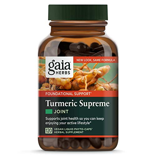 Gaia Herbs, Turmeric Supreme Joint, Turmeric Curcumin Supplement, Supports Joint Health & Mobility, Relieves Occasional Pain, Vegan Liquid Capsules, 120 Count