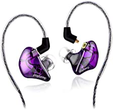 BASN Bsinger+PRO in Ear Monitor for Musicians with MMCX Replaceable Cables; Noise-Isolating and Universal-Fit (Purple)