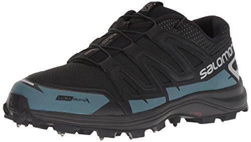 Salomon SPEEDSPIKE CS Trail Running Shoe, black/reflective silver/mallard blue, 5 M US