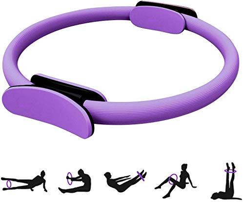 HebyTinco Círculos Profesionales de Yoga, Anillo de Pilates con asaentrenamiento para Resistencia y Flexibilidad, Anillo de Doble asa de Pilates, aro Yoga para Mujer, círculo de Ejercicio mágico ✅