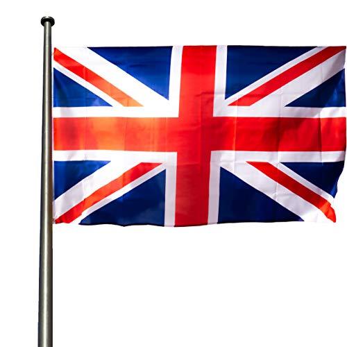 KliKil Bandera Inglés Grande - 1 Bandera de Gran Bretaña para Balcon, Bandera UK para Exterior Jardin y Mastil, United Kingdom Flag - 90x150 cm