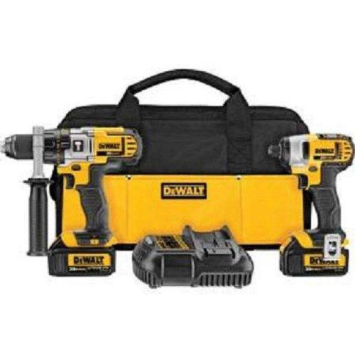 Dewalt DCK290L2R 20-volt MAX Li-Ion 3.0 Ah Hammer Drill and Impact Driver Combo Kit - Factory Serviced -