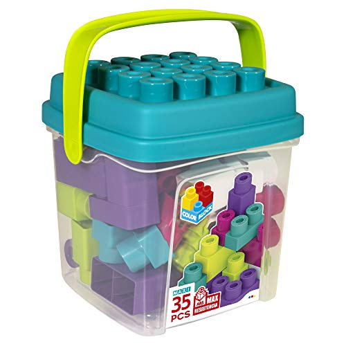 ColorBaby - Juguete bebe, Bloques de construcción niños, Piezas construccion bebe, Juego bloques construccion, Juguetes bebe 1 año, Caja ladrillos de colores trending, Juegos construccion (49285)