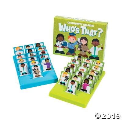 Fun Express Community Helpers Who's That Game - 32 Pieces - Educational and Learning Activities for Kids