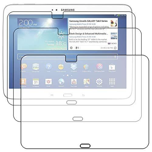 """ebestStar - Para Tablet Samsung Galaxy TAB 3 10.1 10"""" P5200 / P5210 / P5220 / GT-P5210ZWAXEF - LOTE DE 3 FILM PROTECTORES DE PANTALLA ANTI-SCRATCH / proteccion de pantalla táctil, LCD, cristal, transparente + paño de limpieza (microfibra / tela)"""